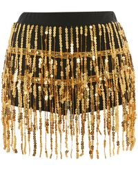 Jaded London - Gold Sequin Fringe Hot Trousers By - Lyst