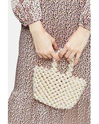 TOPSHOP Pam Pearl Grab Bag - Natural