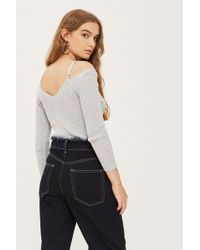 TOPSHOP - Knitted Strap Detail Top - Lyst