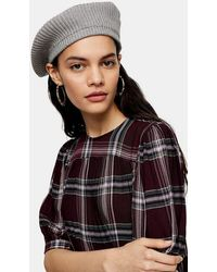 TOPSHOP Grey Knitted Beret