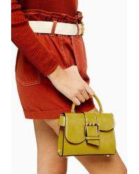 TOPSHOP - Minny Buckle Mini Bag - Lyst