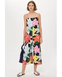 TOPSHOP - Tall Printed Jumpsuit - Lyst