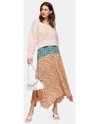 TOPSHOP Tallmixed Floral Print Skirt - Multicolour