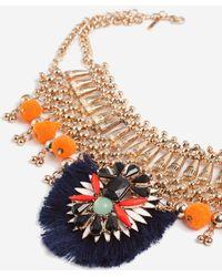 TOPSHOP - Mega Tassel Collar Necklace - Lyst