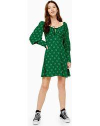 TOPSHOP - Prairie Heart Dress - Lyst
