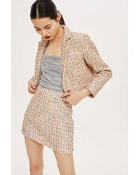 TOPSHOP - Boucle Skirt - Lyst