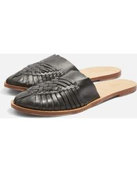 TOPSHOP - Woven Mules - Lyst