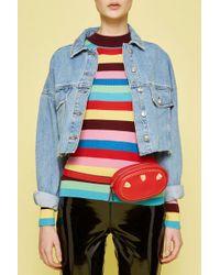 TOPSHOP Panther Belt Bag - Red