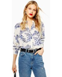 TOPSHOP - Tiger Printed Oversized Shirt - Lyst