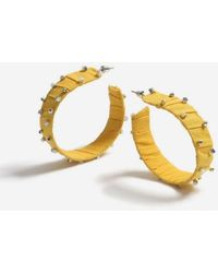 TOPSHOP - Rhinestone Stud Hoop Earrings - Lyst