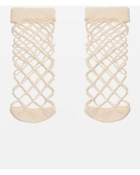 TOPSHOP - Oversized Fishnet Ankle Socks - Lyst