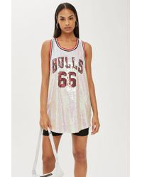 TOPSHOP - Bulls Sequin Tank Top By - Lyst