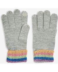 TOPSHOP - Rainbow Touchscreen Gloves - Lyst