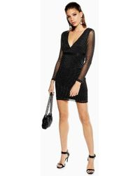 Wyldr - bold Silver Sands Textured Mini Bodycon Dress By - Lyst