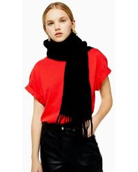 TOPSHOP Black Recycled Super Soft Scarf