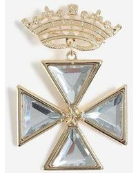 TOPSHOP - Crown Gem Brooch - Lyst