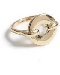 TOPSHOP - Round Circle Hole Ring - Lyst
