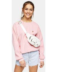 TOPSHOP Petite Pink Pizza Sweatshirt