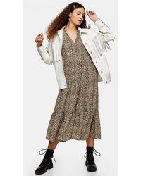 TOPSHOP - Tiered Chuck On Midi Dress - Lyst