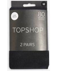TOPSHOP 80 Denier Tights - Black