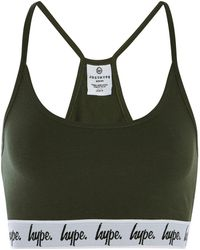 Hype - Khaki Taped Bralet By - Lyst