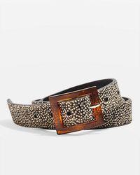 TOPSHOP - Tortoiseshell Leather Belt - Lyst