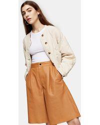 TOPSHOP Leather Culottes - Multicolor