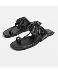TOPSHOP - Fleur Fringed Sandals - Lyst