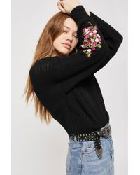 TOPSHOP - New Stitchy Patch Jumper - Lyst