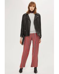 TOPSHOP - Striped Slouch Trousers - Lyst