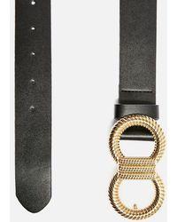 TOPSHOP - Twisted Logo Belt - Lyst