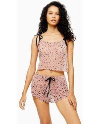 TOPSHOP - Sheer Star Print Pyjama Set - Lyst