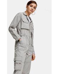 TOPSHOP Grey Utility Boiler Suit