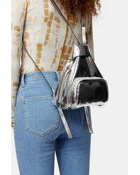 TOPSHOP Idol Sophia Silver Mini Backpack - Metallic
