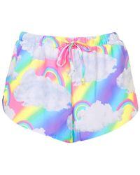 Jaded London - Rainbow Cloud Print Shorts By - Lyst