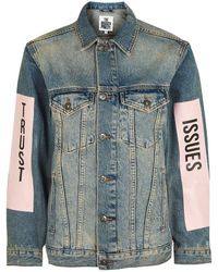 The Ragged Priest - Denim Jacket With Print By - Lyst