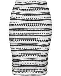 Wal-G - Stripe Lace Co-ord Skirt By - Lyst