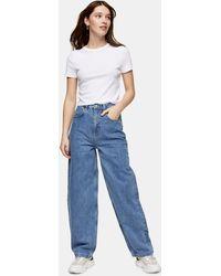 TOPSHOP Mid Blue 90s Straight Jeans - Bleu
