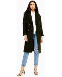 detailed pictures de4ba e1bea TOPSHOP Synthetic Checked Coat - Lyst