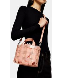 TOPSHOP Gala Tpu Pink Weave Grab Bag
