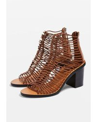 TOPSHOP - Narly Smart Heeled Sandals - Lyst