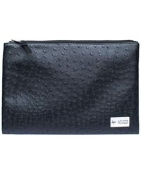 Hype - Ostrich Leather Clutch By - Lyst