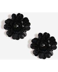 TOPSHOP - Sequin Flower Studs - Lyst