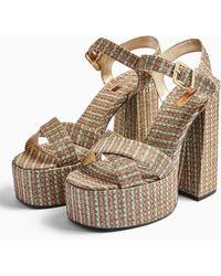 TOPSHOP Rudy Platform Shoes - Multicolor