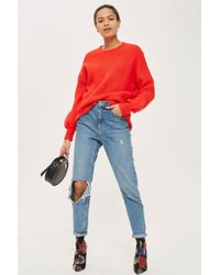 TOPSHOP - Tall Seam Cropped Jumper - Lyst