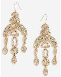 TOPSHOP moblie Drop Earrings - Metallic