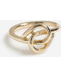 TOPSHOP gold Knot Ring - Metallic