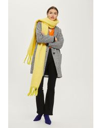 TOPSHOP - Chunky Brushed Scarf - Lyst