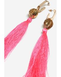 TOPSHOP - Sequin Tassel Drop Earrings - Lyst