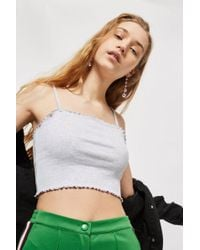 TOPSHOP - Riley Lettuce Hem Camisole Top - Lyst
